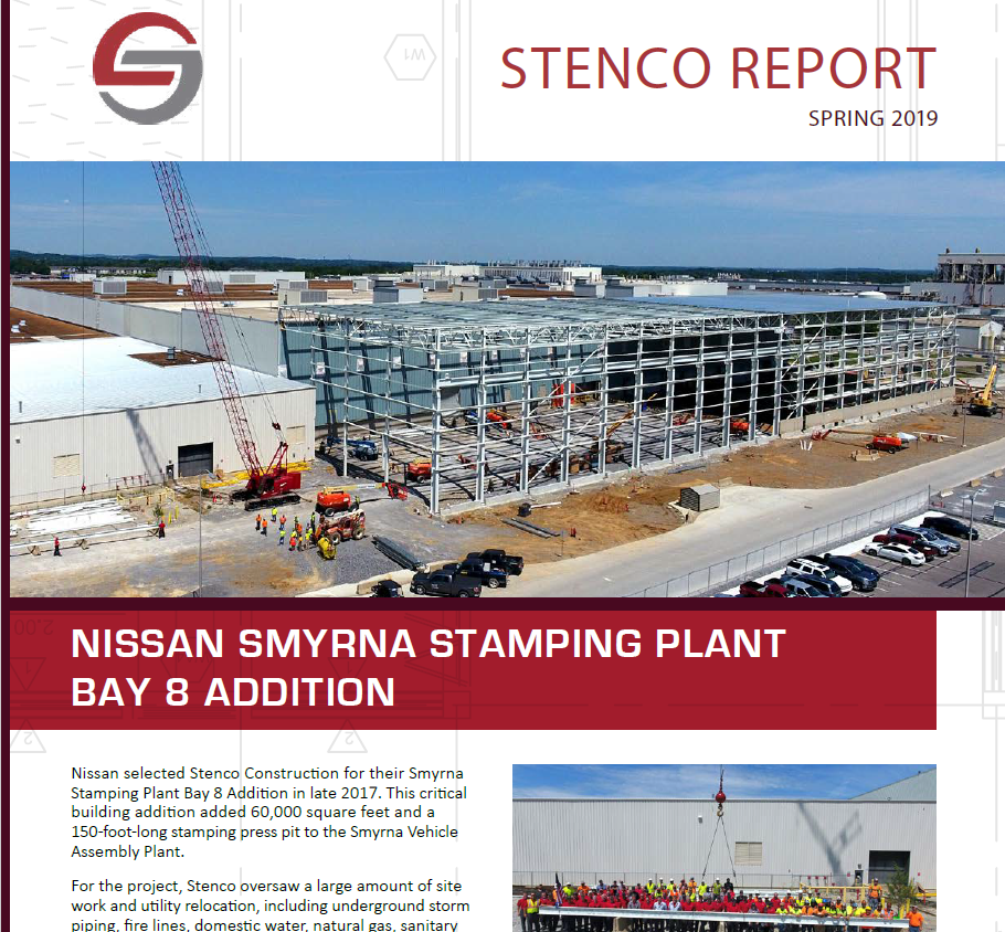 Stenco Report Spring 2019 - Nissan Smyrna Stamping Plant Bay 8 Addition