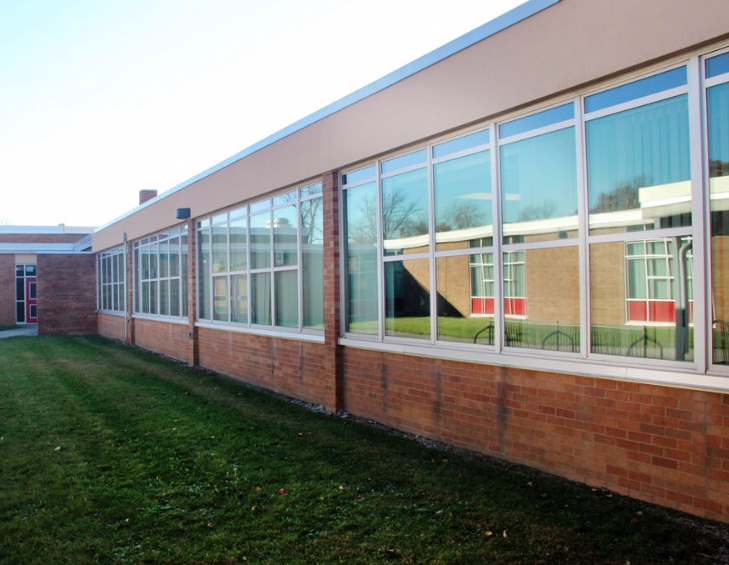 Milan Middle School: Interior/Exterior Repair - Stenco Construction Project Highlights For Education - milan1
