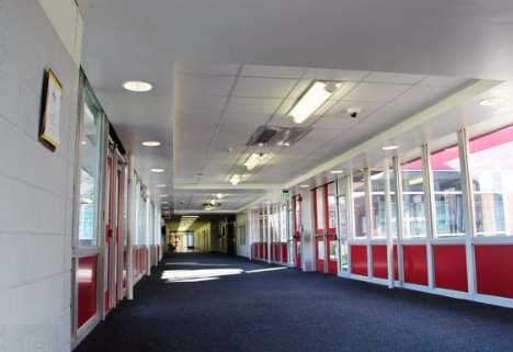 Milan Middle School: Interior/Exterior Repair - Stenco Construction Project Highlights For Education - milan2